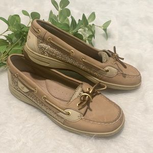 SPERRY TOPSIDERS | Gold Glitter